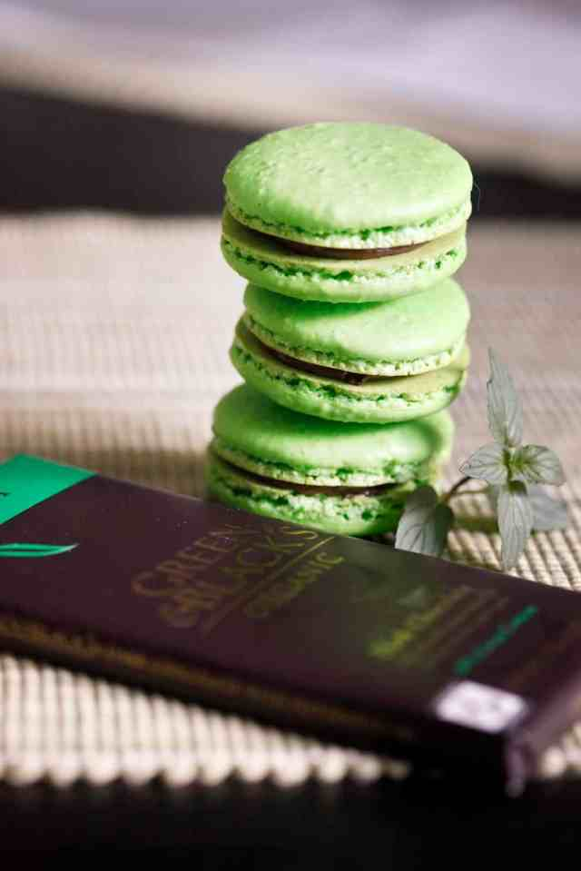 Mint Macarons, Macarons, After Dinner Mint Macarons