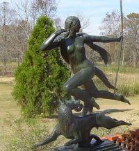 Goddess Diana hunting