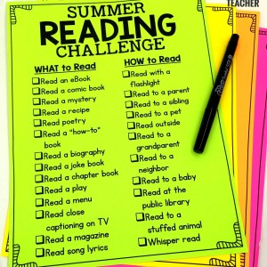 Summer Reading Challenge List