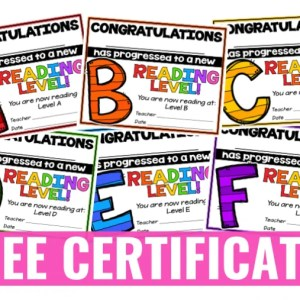 Free Reading Award Certificates
