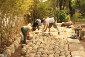 Fabrication des jardins de pierres