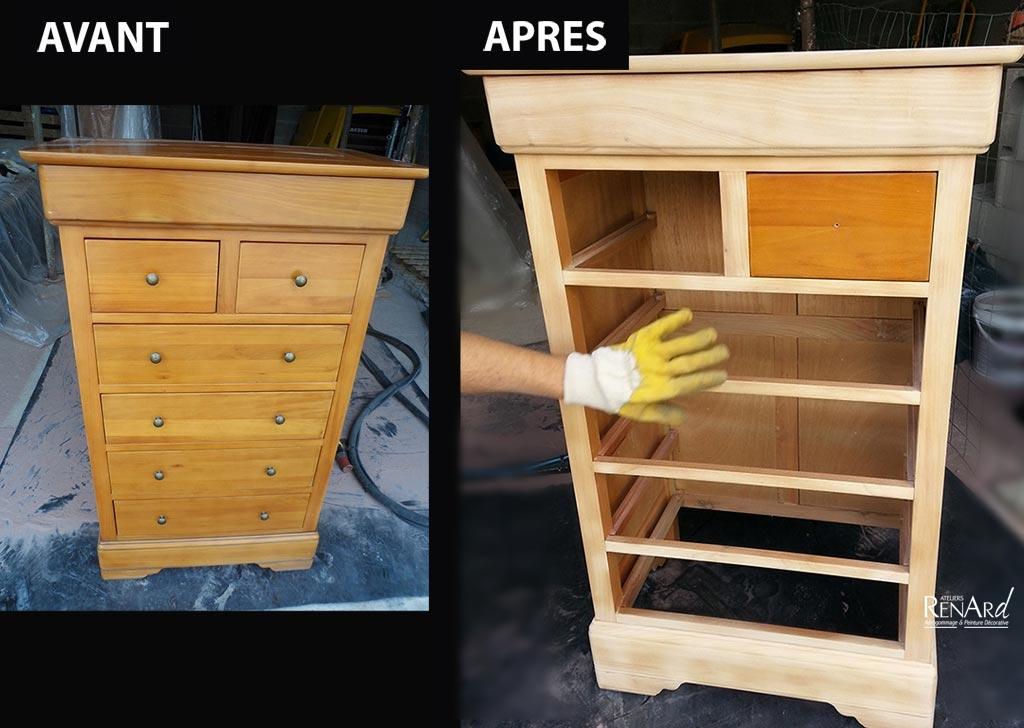 Decapage bois par aerogommage - Cherche meuble de cuisine ...