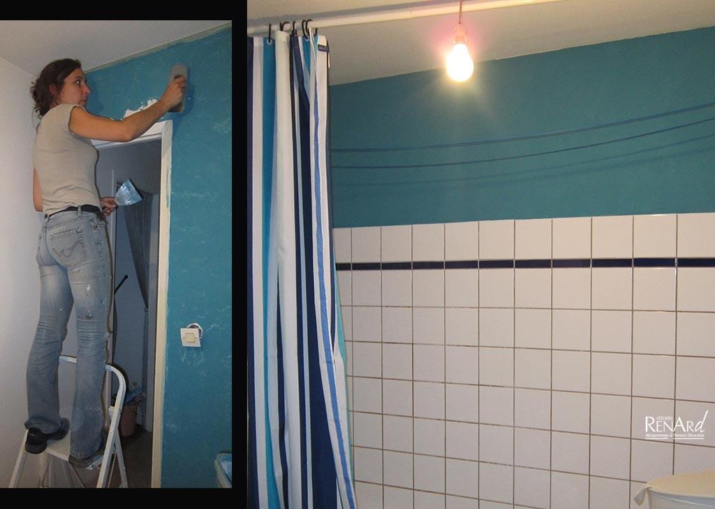 Peinture et enduits d coratifs galeries photos ateliers - Enduit salle de bain impermeable ...