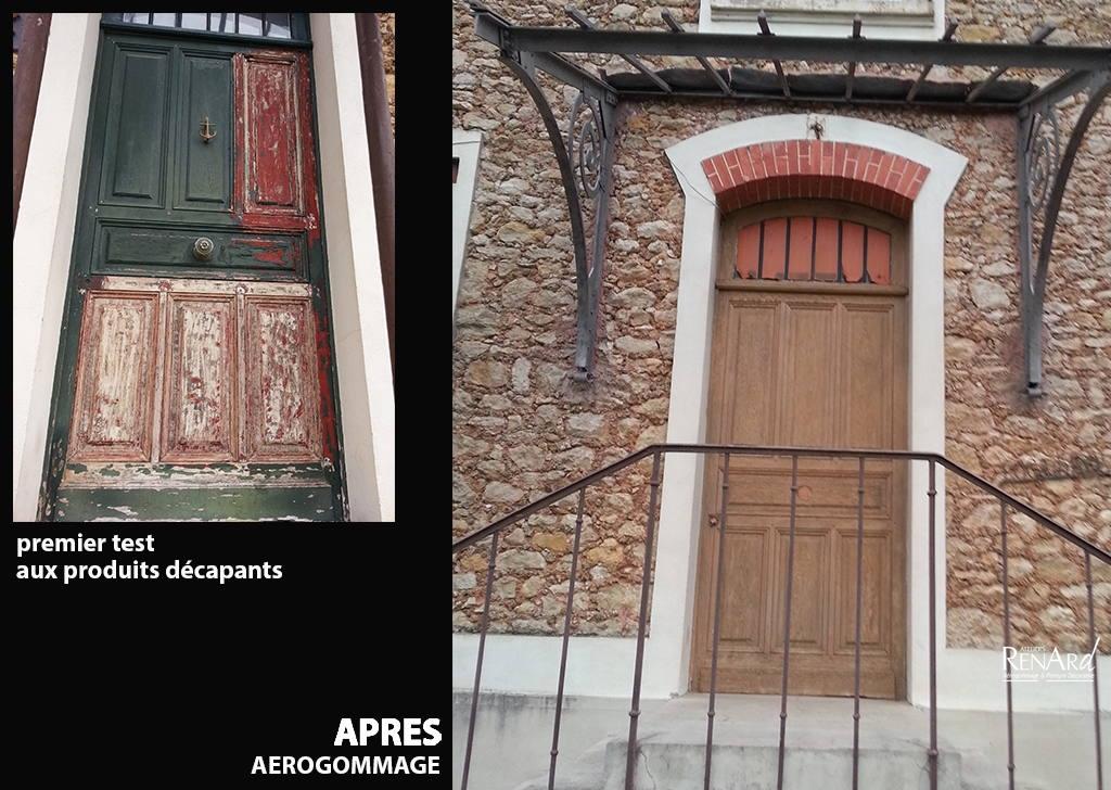 Aérogommage bois, galeries photos Ateliers Renard 91 # Decapage Porte Bois