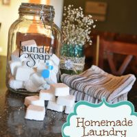 Homemade Laundry Detergent Tabs with Essential Oils