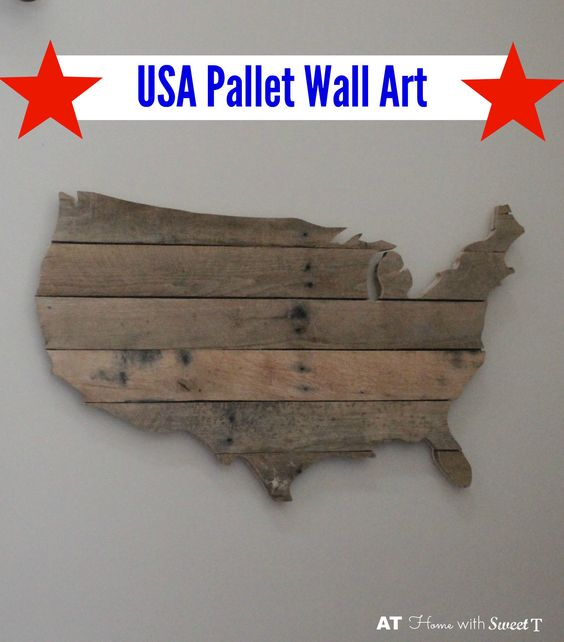 usa pallet wall art at home with sweet t