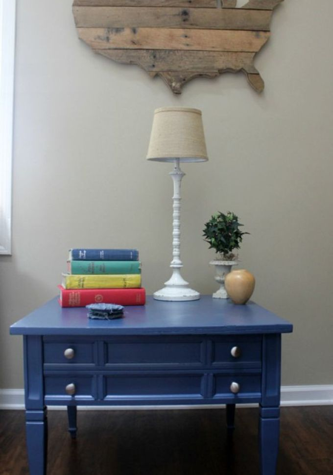 Navy Side table