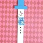 bonequinho de palito de sorvete