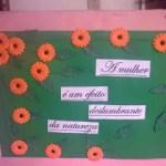 painel flores dia da mulher