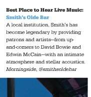 "Smith's Olde Bar – Voted ""Best Place to Hear Live Music"" in Atlanta by Jezebel Magazine"