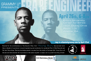 GRAMMY U presents: Era of the Engineer tour with Young Guru, Apr 26