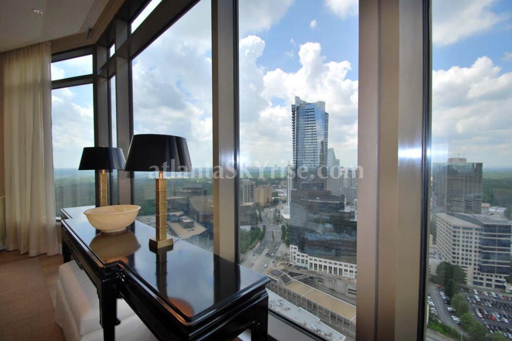 Mandarin Oriental Residences Atlanta 45A Living Room View