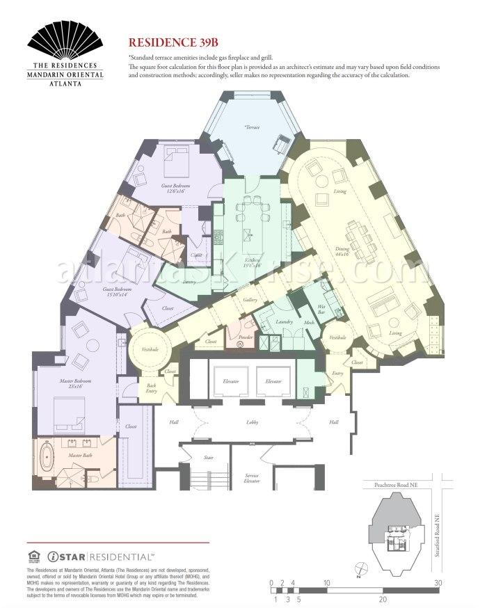 Mandarin Oriental Residences Atlanta Unit 39B Floor Plan