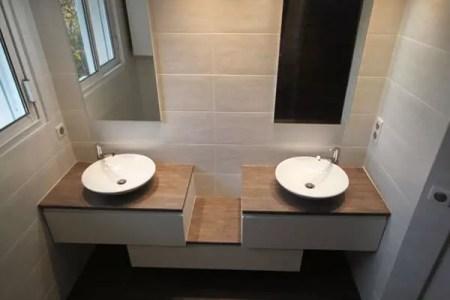 meuble salle de bain decale