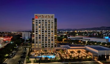 The Marriott Irvine Spectrum has 271 rooms that include double queens, king rooms, executive suites, event spaces and more. R.D. Olson Construction developed the $120 million hotel. It's the first full-service hotel of its kind to open in Irvine in the last 10 years. (Courtesy of R.D. Olson)