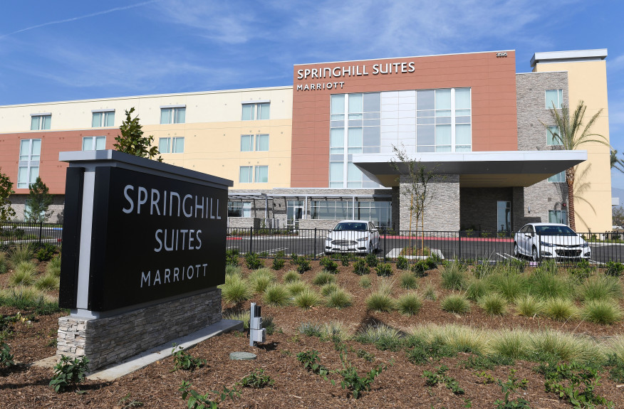 Marriott International unveiled a new SpringHill Suites by Marriott in Ontario on Monday. The 126-suite hotel, at 3595 E.Guasti Road, will operate as a Marriott franchise, owned and managed by Tharaldson Hospitality Management of Fargo, N.D. Ontario on Monday, October 29, 2018. The hotel opened Monday. (Photo by Will Lester, Inland Valley Daily Bulletin/SCNG)