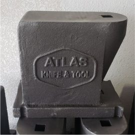 Atlas Anvil - 65 lbs 4150 steel w/ Hot Cut Hardy