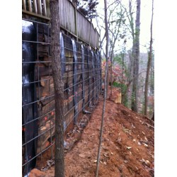 Small Crop Of Railroad Tie Retaining Wall