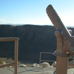 Telescope Overlooking Crater