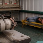 Worker Sleeping On Ferry
