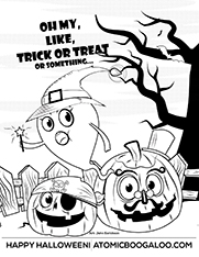 Pay with a Tweet to download Halloween Print Out