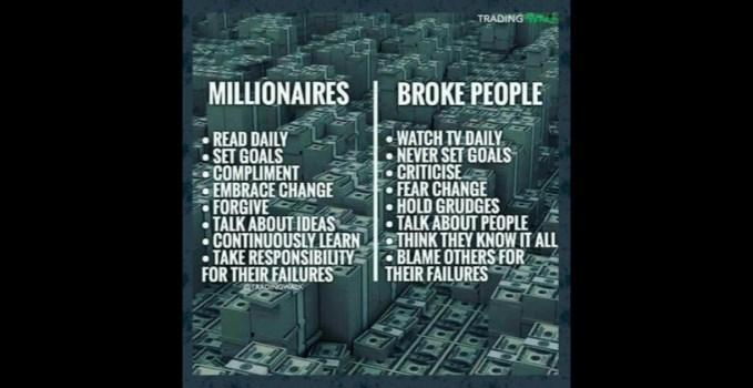 Millionaires Vs Broke People