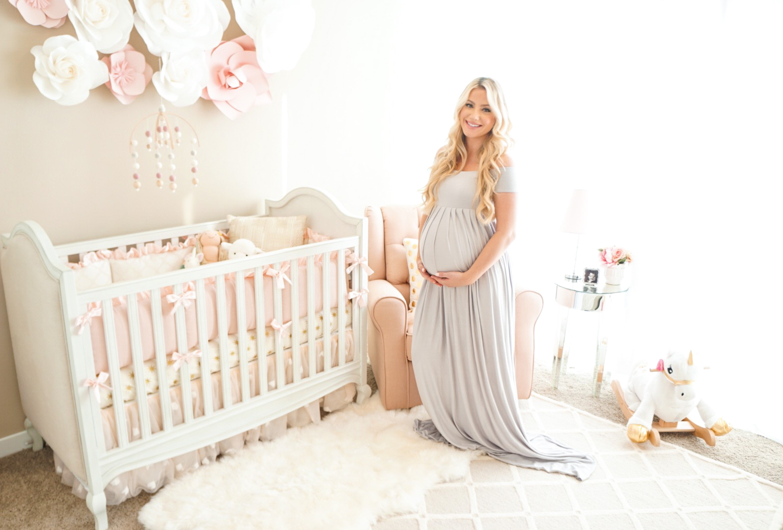 Comely Pink Baby Girl Nursery Ideas Baby Girl Nursery Signs Pink Baby Girl Nursery Decor A Touch Blogger Katelyn Jones A Touch houzz-03 Baby Girl Nursery
