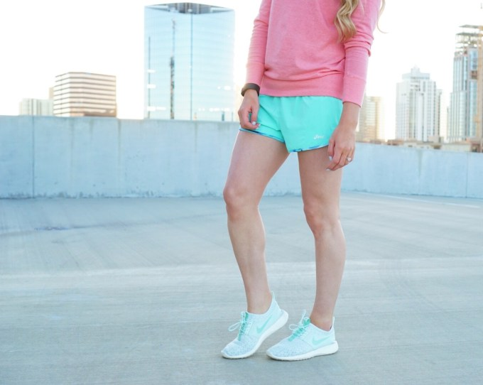 Katelyn Jones A Touch of Pink Fitness Asics Running Shorts