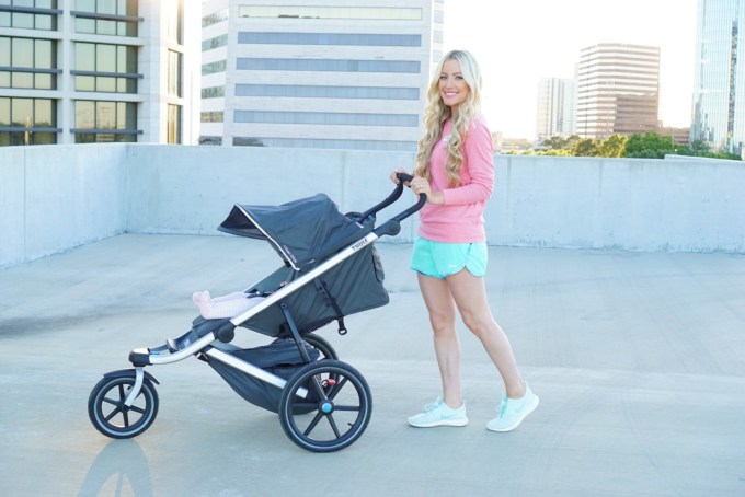 Katelyn Jones A Touch of Pink Thule Jogging Stroller