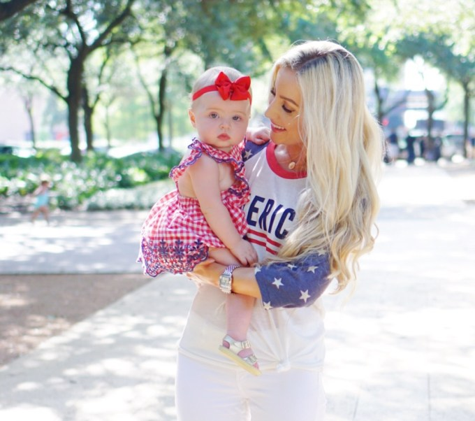 Katelyn Jones A Touch of Pink Blog Fourth of July Baby Girl Outfit
