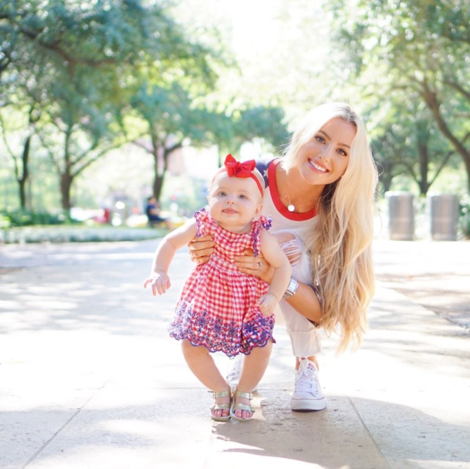 Katelyn Jones A Touch of Pink Blog Fourth of July Outfit Baby Girl Dress