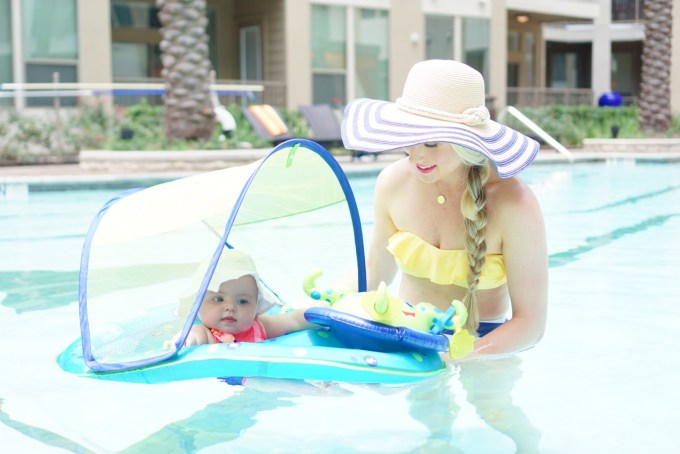 Katelyn Jones A Touch of Pink Blog buybuy BABY Spring Baby Float Activity Center with Sun Shade