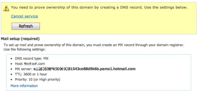 MX record and proving your domain ownership