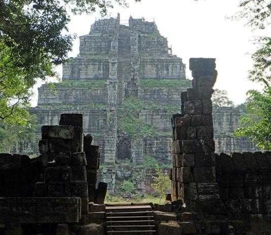 Temple of Koh Ker in Cambodia