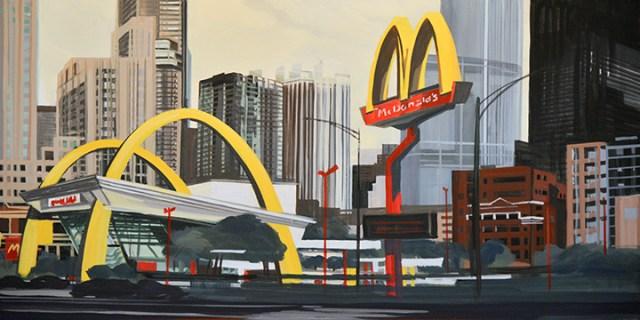 Peinture19-Mac-Donald-s-Chicago-Clark-Ontario-Peinture-Painting-by-Michelle-Auboiron