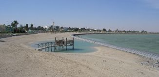 """Al Khor Beach"". Licensed under Creative Commons Attribution-Share Alike 2.0 via Wikimedia Commons."