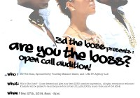 Auditions for Music Video in Atlanta for 3D The Boss