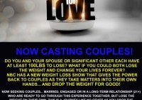 weight for love reality show info flyer