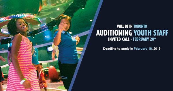 Carnival Cruises Hiring Youth Staff In Toronto  Auditions Free
