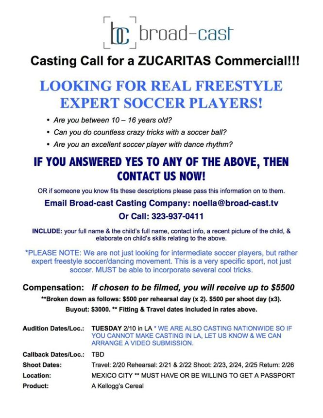 online casting auditions for kids