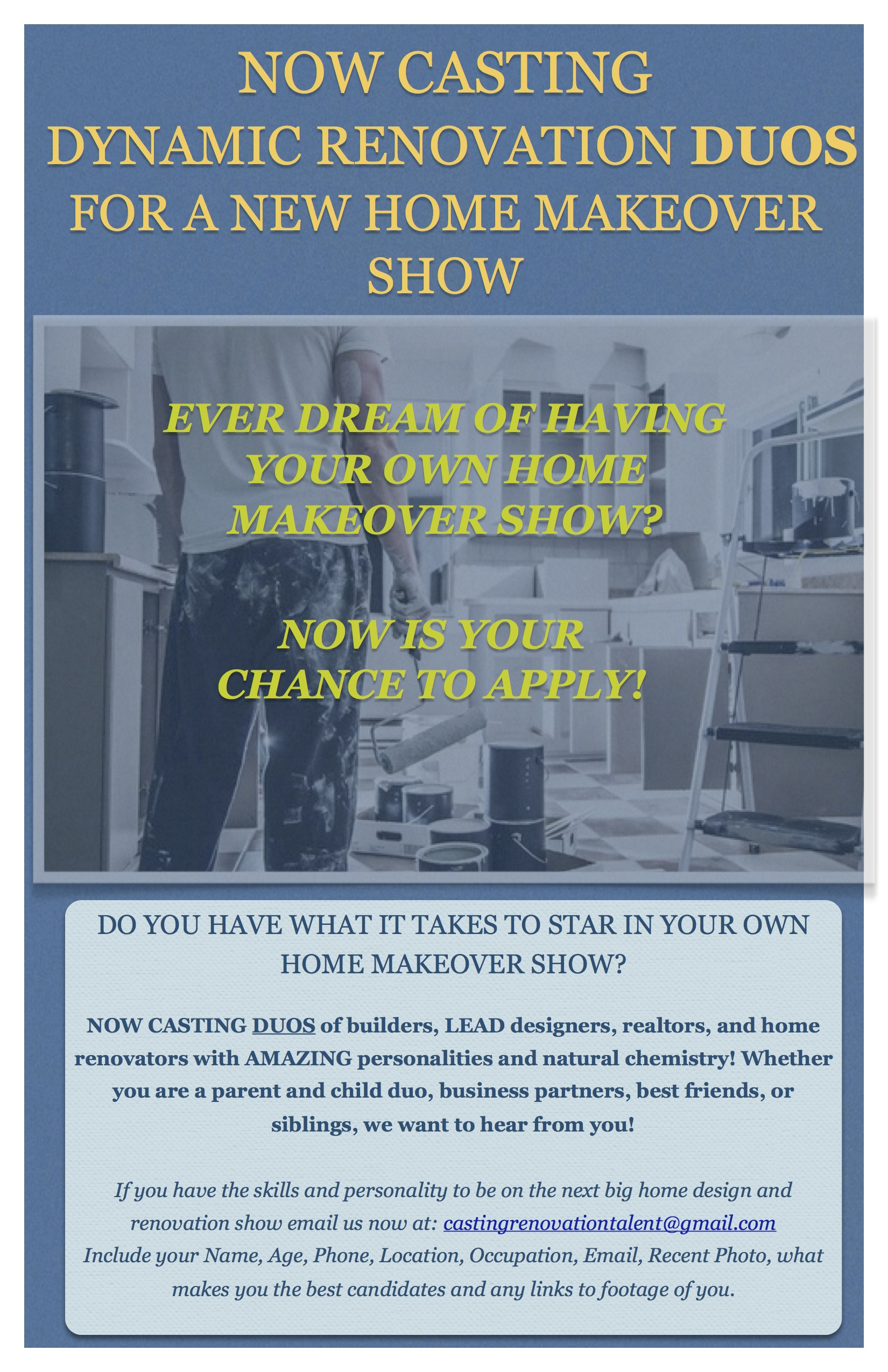 New Cable Network Show Casting People To Star In Their Own