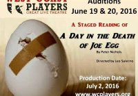 Joe Egg Play Clearwater Auditions