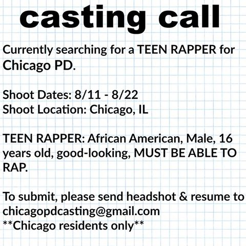 casting rapper on chicago PD