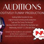 "Singer Auditions for Political Comedy ""Lady and The Trump"" in Birmingham Alabama"