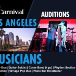 Carnival Cruises Holding Los Angeles Open Auditions for Singers and Musicians
