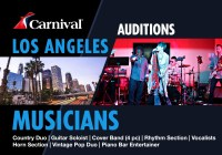 Singer, pop group and musician open call Carnival