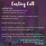 Auditions in San Diego for Student Film Project