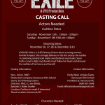 "Auditions for Student Film ""Exile"" in Vancouver BC"