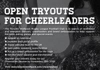 cheerleader tryouts Toronto