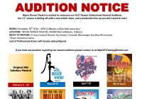 theater audition notice for Indiana